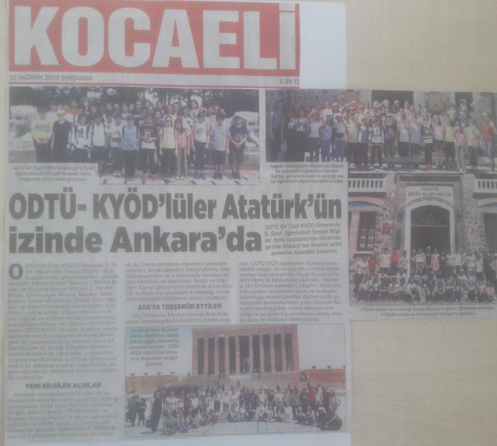 , 5.Sınıflarımızın Ankara Gezisi…