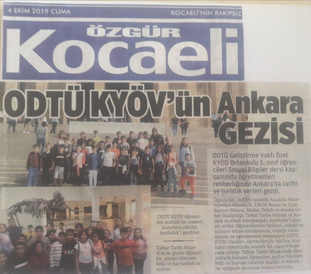 , 5.Sınıflar Ankara Gezisi…