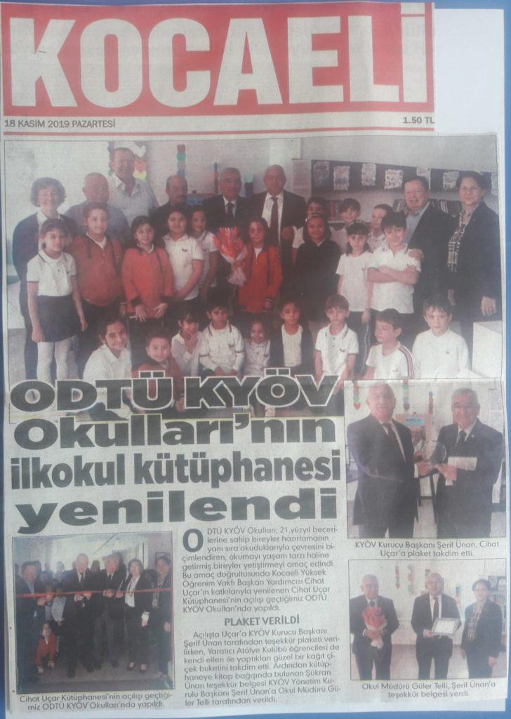 , İlkokul Kütüphanesinin Açılışı…