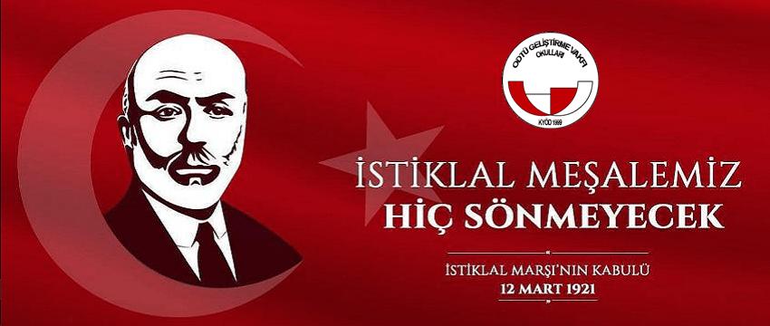 , İstiklal Marşı'nın Kabulü ve Mehmet Akif Ersoy'u Anma Programı
