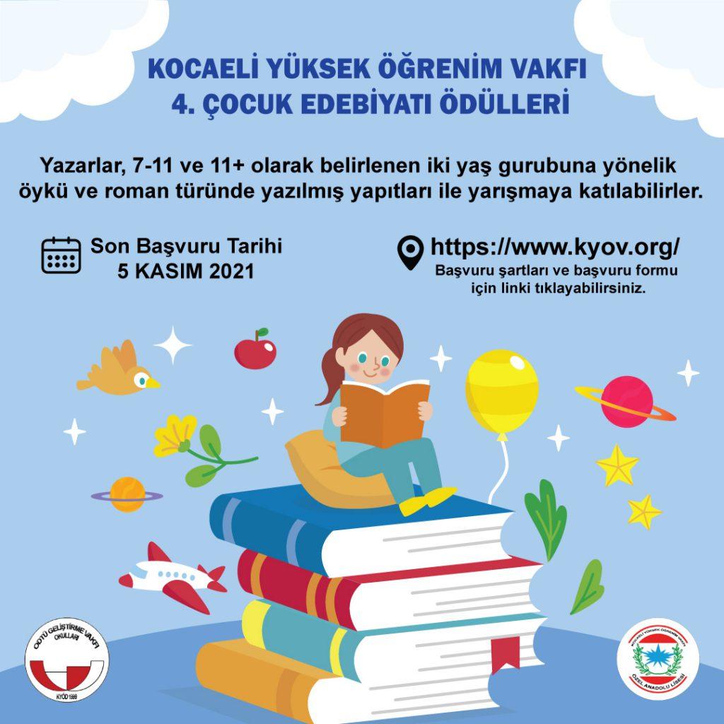 , Kocaeli Yüksek Öğrenim Vakfı 4. Çocuk Edebiyatı Ödülleri Yarışması…